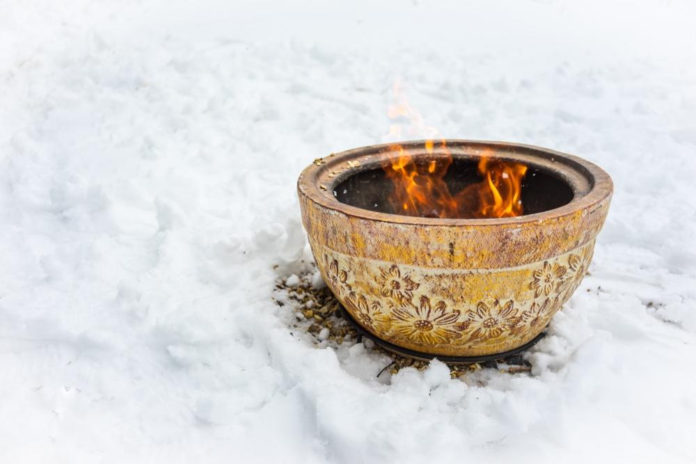 winter barbecue vuurkorf