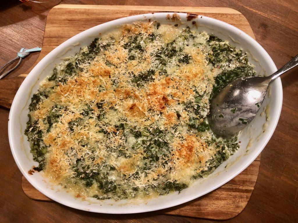 Boerenkoolgratin met kaas