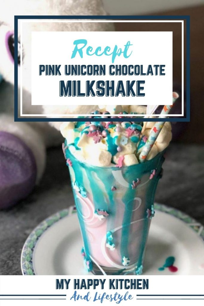 Pinterest pin unicorn milkshake