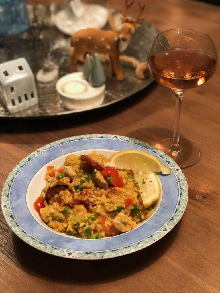 paella met kip en chorizo