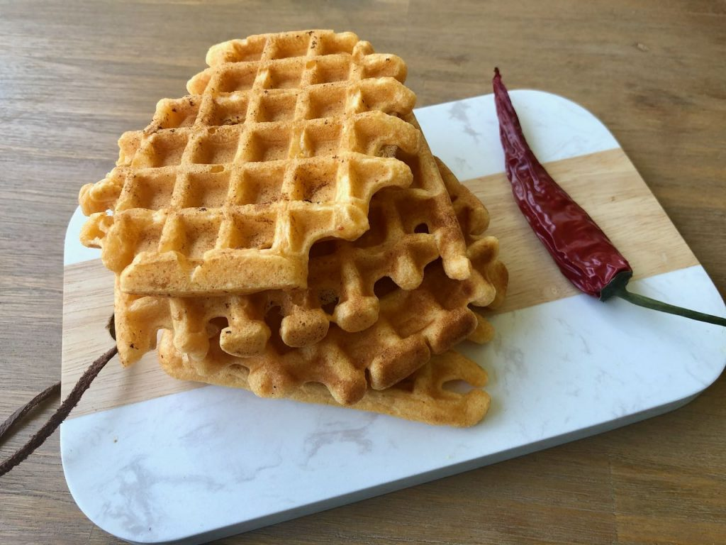 Hartige curry-kokos wafels