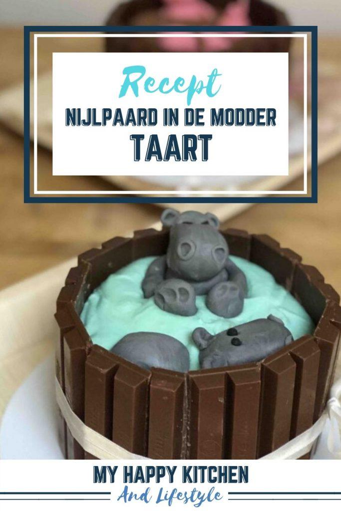Pinterest pin nijlpaard in de modder taart