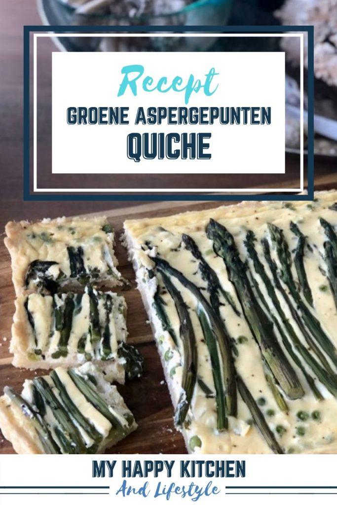 Pinterest pin quiche groene aspergepunten