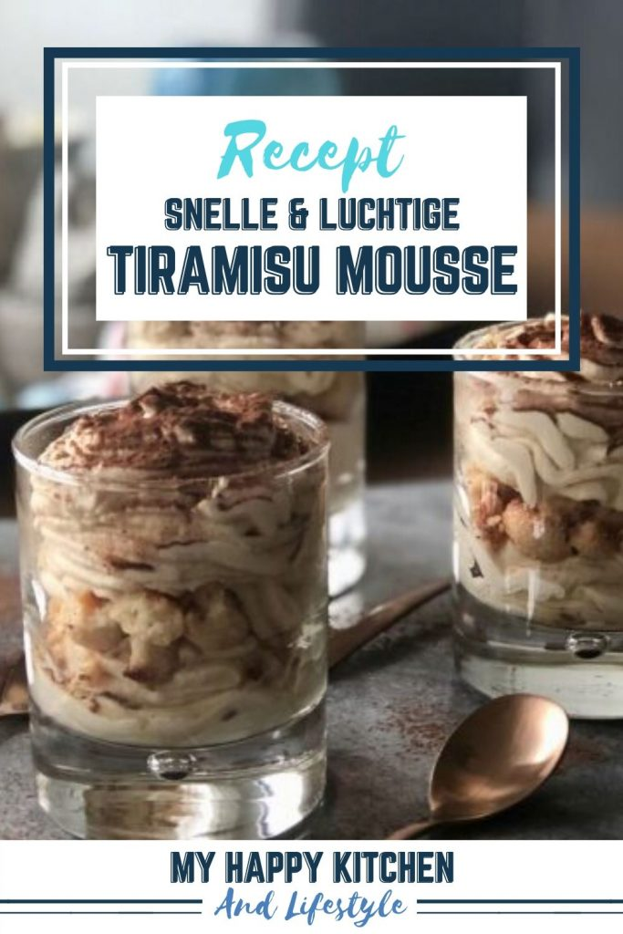Pinterest pin tiramisu mousse