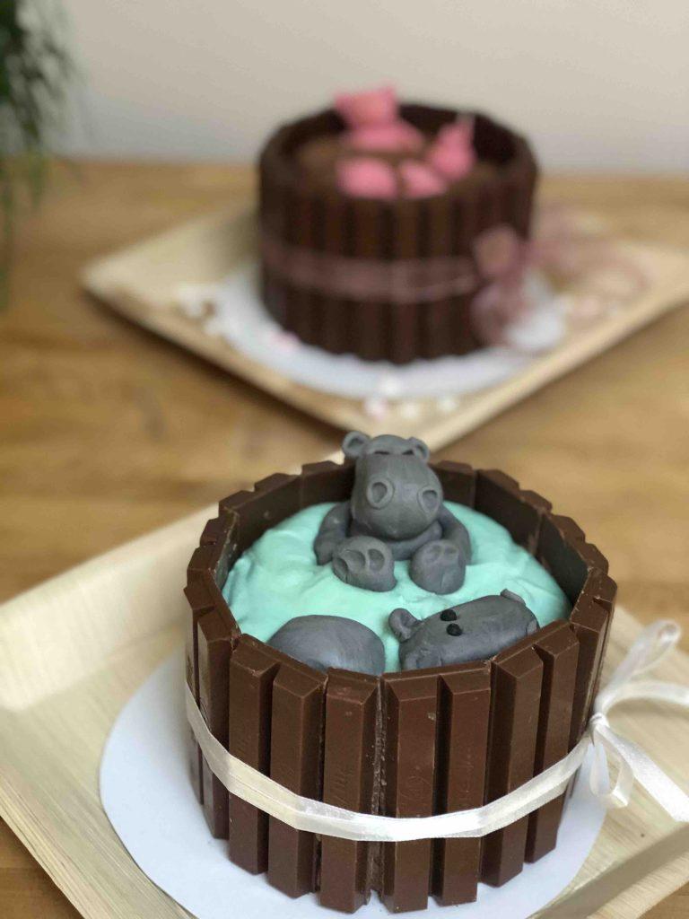 biggetjes in de modder taart en nijlpaard