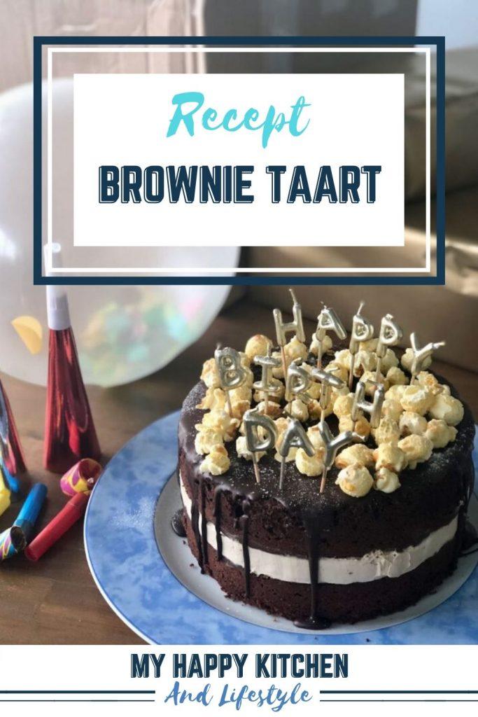 Pinterest Pin brownietaart