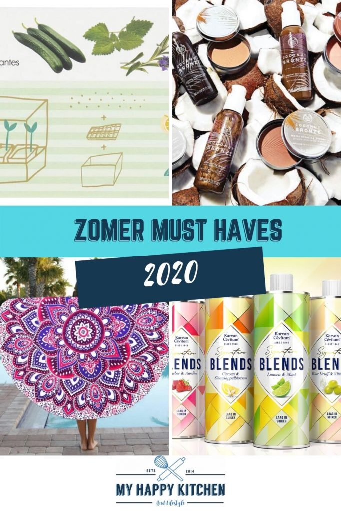 Pinterest pin zomer must haves