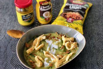 Groene curry soep met noedels