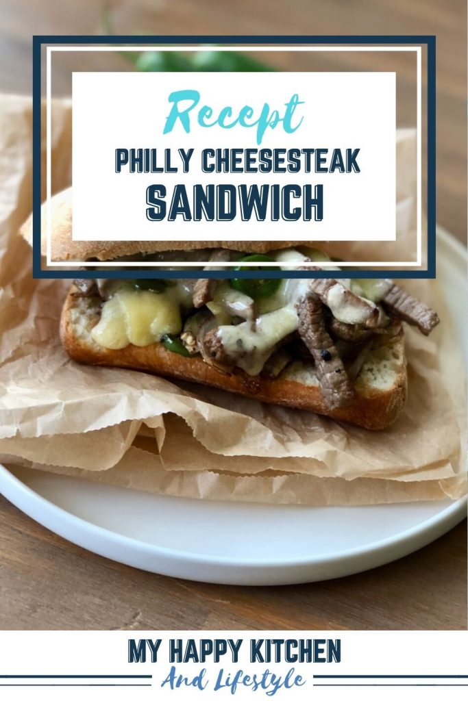 Pinterest pin philly cheesesteak
