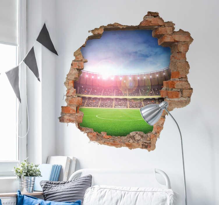 Voetbalstadion muursticker