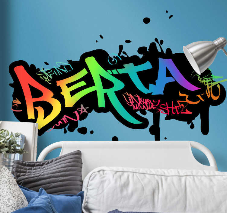Graffiti muursticker