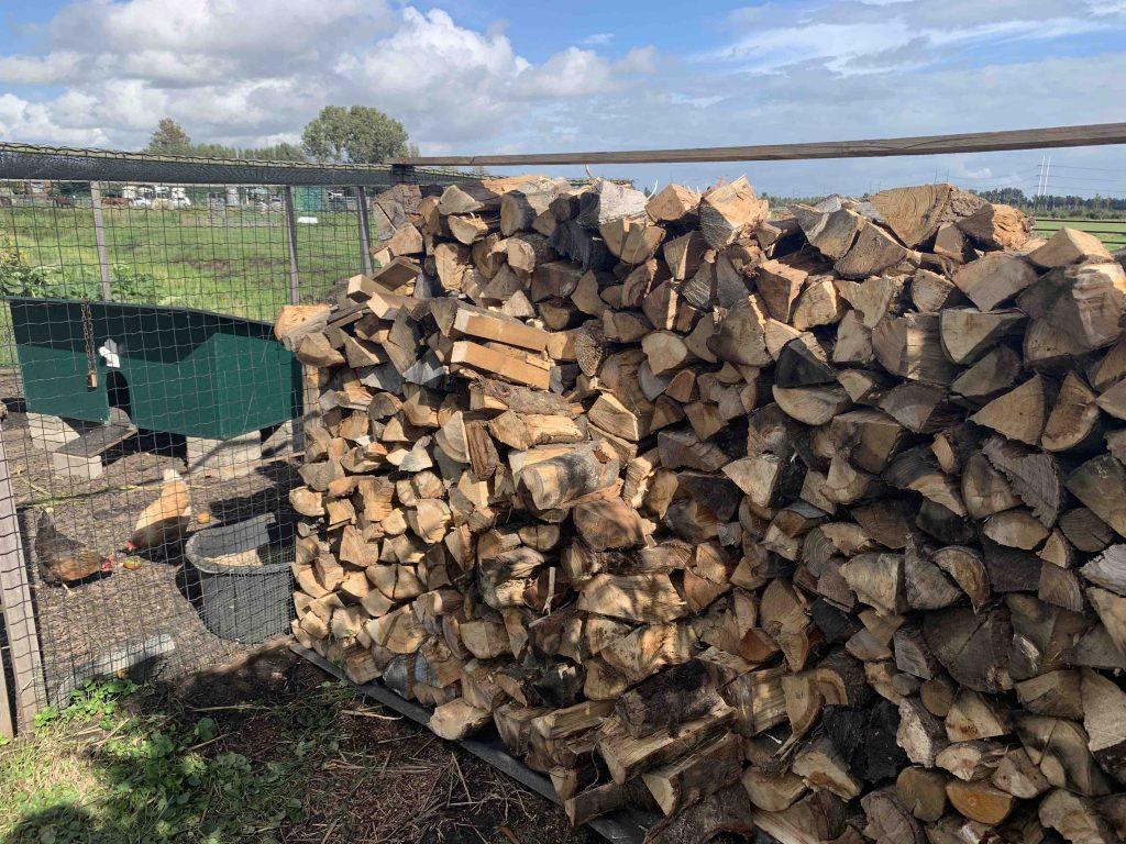 uit de moestuin - houtvoorraad