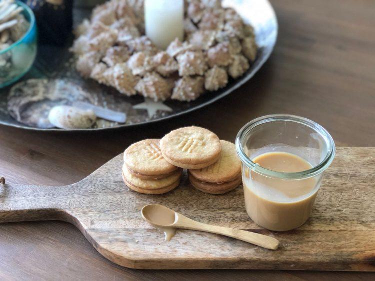 stroopkoekjes met gezouten karamel