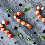 Caprese candy canes