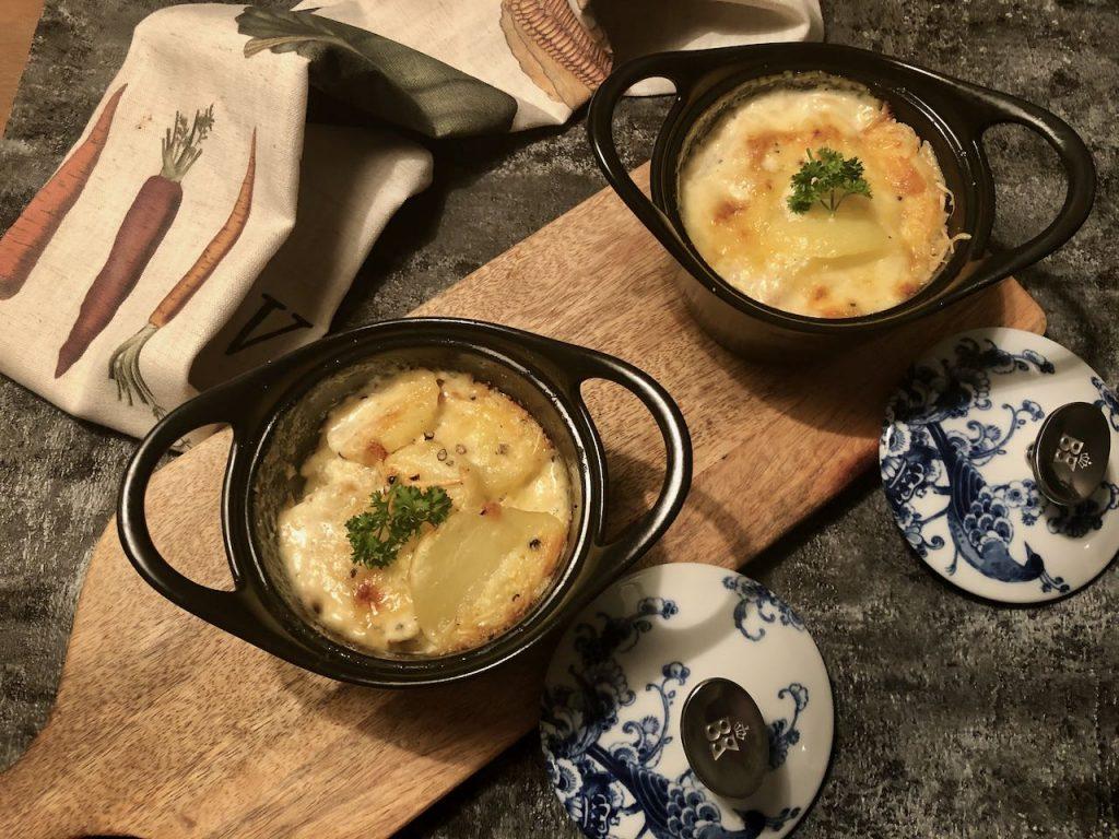 aardappelgratin uit de oven