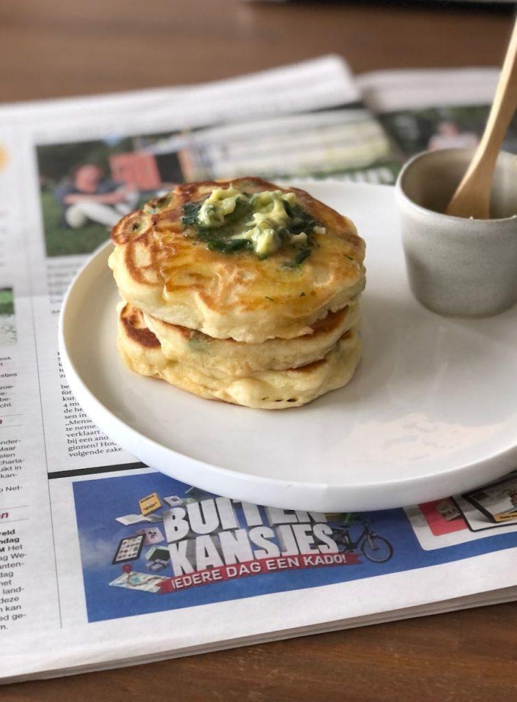pancakes met tuinbonen