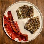 Gegrilde kabeljauw met zeewier-sesam korst