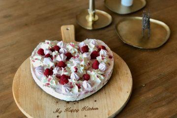 Frambozen kwarktaart met meringue