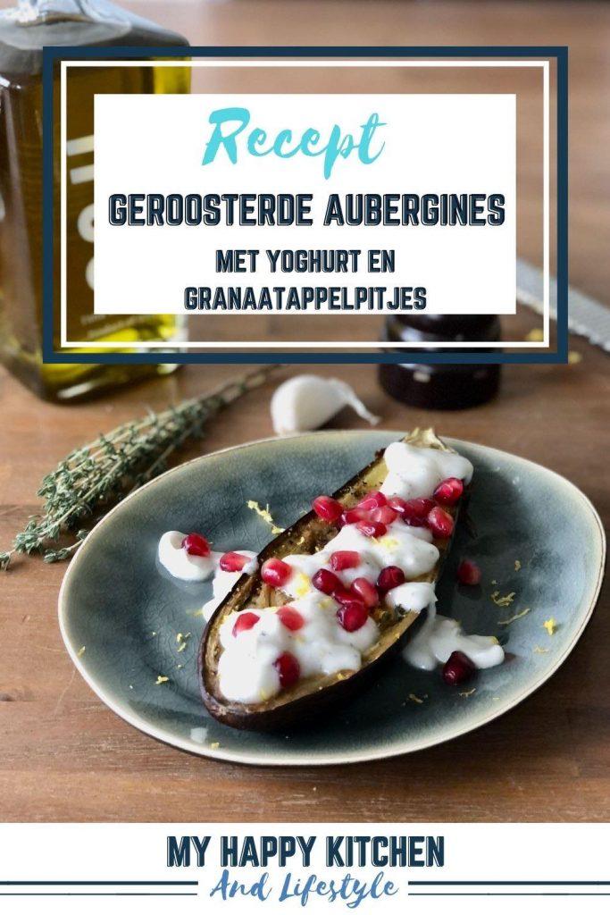 Geroosterde aubergines met yoghurt
