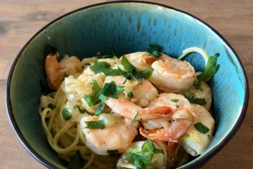 snelle pasta met gamba's