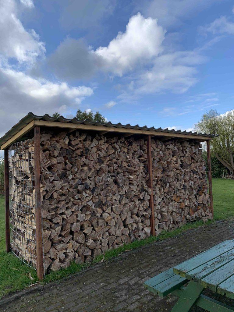 hout voor de deur