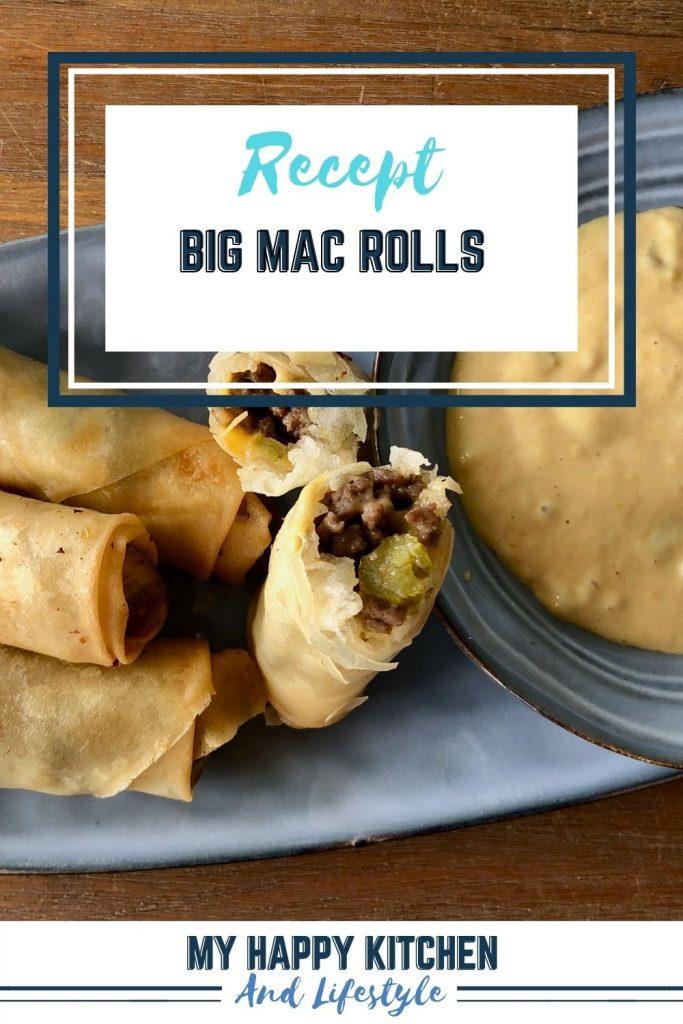 Pinterest pin Big Mac Rolls