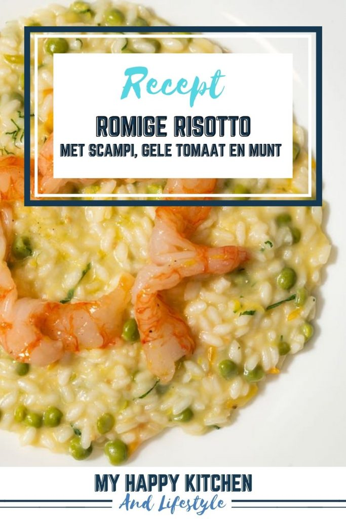 Risotto met scampi