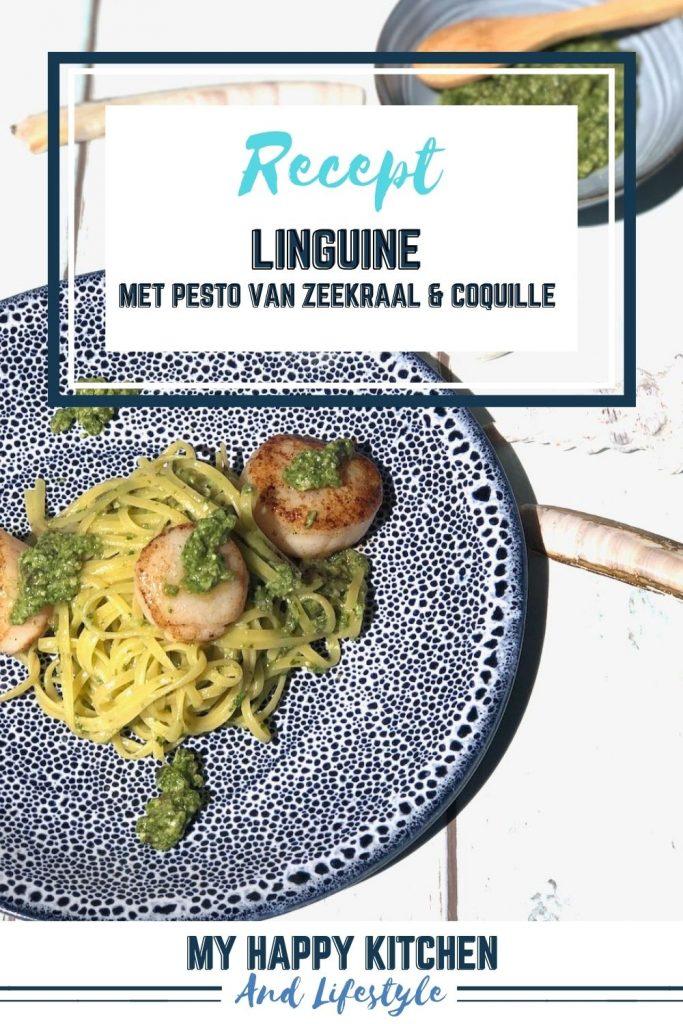 Linguine met pesto van zeekraal