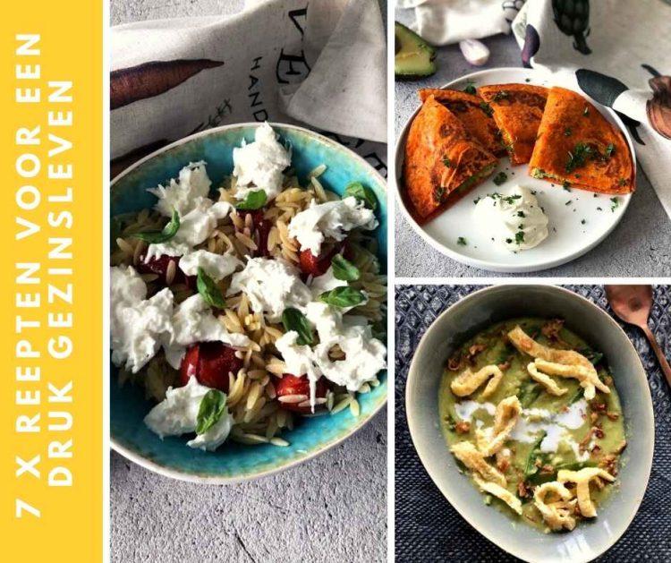 recepten voor een druk gezinsleven