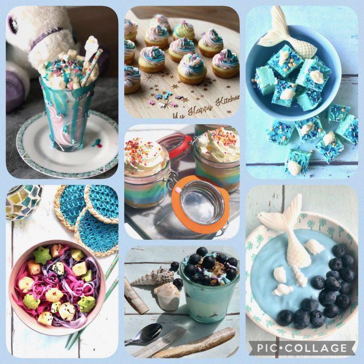 Mermaid, unicorn & rainbow food